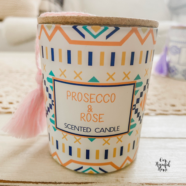 proseco rose scented candle votive