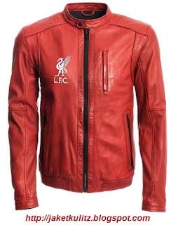 Gambar Jaket Kulit Liverpool Merah