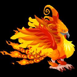 Feuervogel-Drache