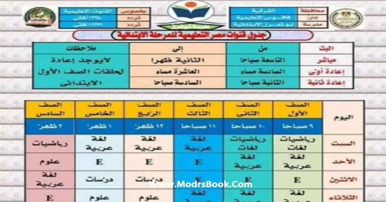 مواعيد قناة مصر التعليمية 2021 وتردد القنوات الناقلة للبرامج التعليمية التلفزيونية