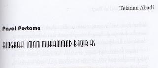 Syiah Berkeyakinan Bahwa Imam Kelima Adalah Muhammad Baqir