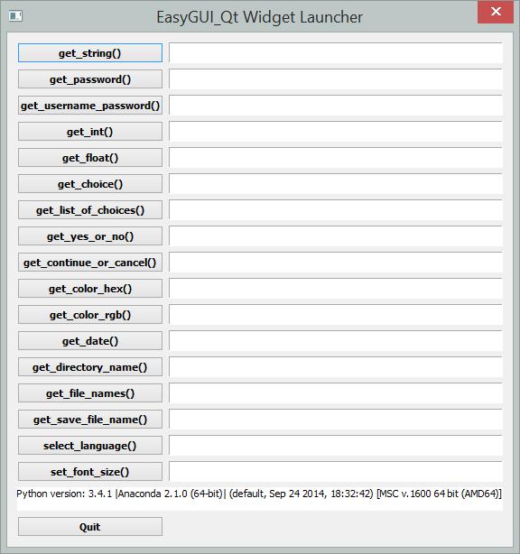 Only Python: EasyGUI_Qt progressing well