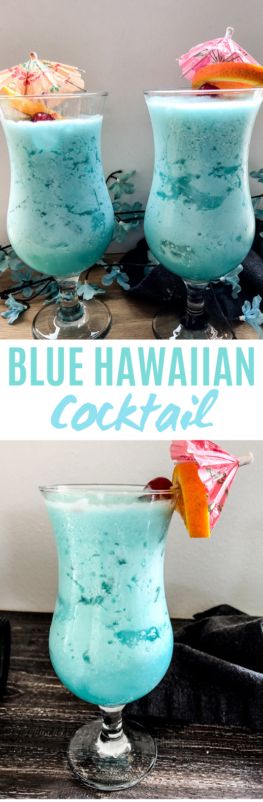 Blue Hawaiian Cocktail #drinks #cocktails