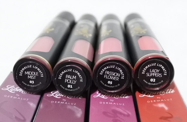Review & Swatches Dermaluz Lipmatte all shades