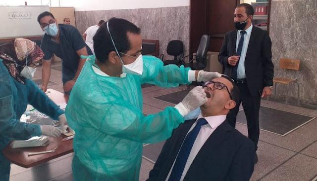 380 من القضاة والأطر والموظفين التابعين للدائرة الاستئنافية لأكادير خضعوا  للفحص الطبي الخاص بتشخيص فيروس كورونا