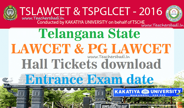 TS LAWCET,TS PGLCET,Hall Tickets,Exam date