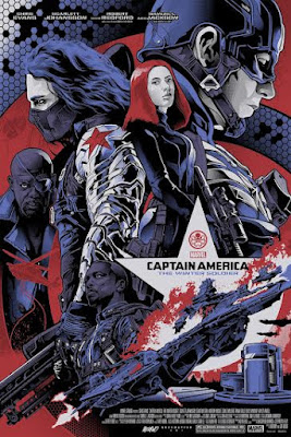Captain America: The Winter Soldier Regular Edition Screen Print by Alexander Iaccarino & Grey Matter Art