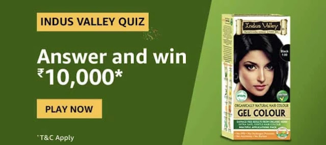 Amazon Indus Valley Quiz Answers Win – Rs.10000