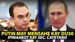 Putin may Importanteng Mensahe kay Pres. Duterte