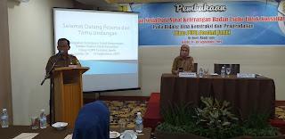 Plt Bina Kontruksi Dan Pengendalian PUPR Provinsi Jambi Membuka Secara Resmi Sosialisasi Surat Keterangan Badan Usaha Untuk Konsultan.