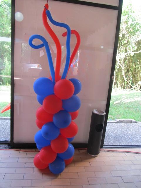 Decoracion con globos del hombre ara a decoraci n - Decoracion de aranas ...