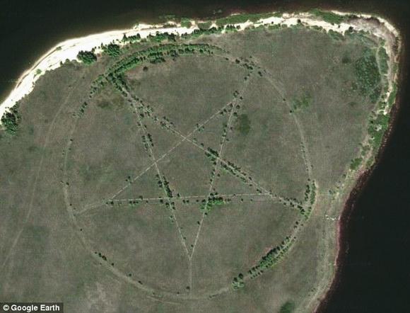 Pentragra no Google Earth - Blog Mortalha