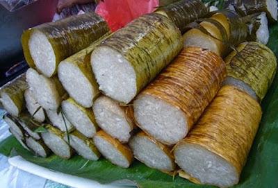 jajanan khas buton nasi bambu