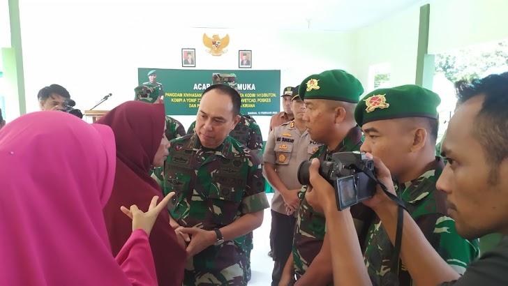 Pangdam Hasanuddin Bertatap Muka Dengan Prajurit dan Ibu-Ibu Persit