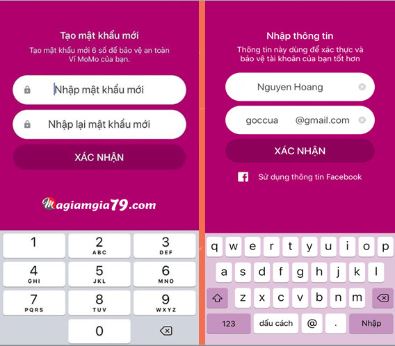 Hướng dẫn đăng ký app momo