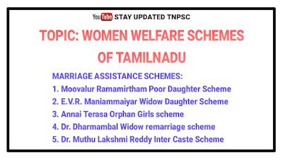 Marriage assistance schemes of Tamilnadu