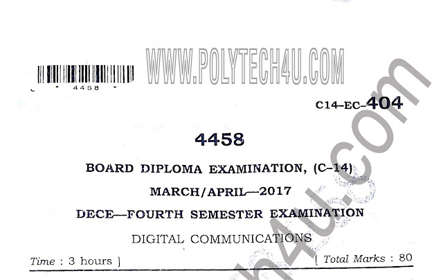 C-14 DECE DIGITAL COMMUNICATIONS PREVIOUS QUESTION PAPERS