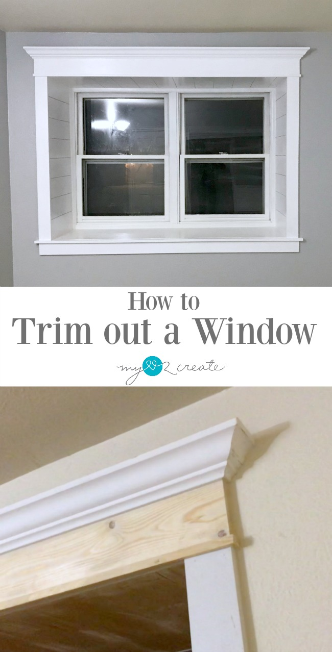 Easy process of how to trim out a window in your home, MyLove2Create.