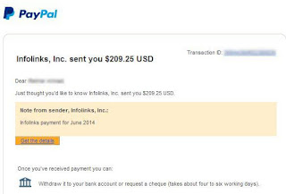infolinks earning paypal