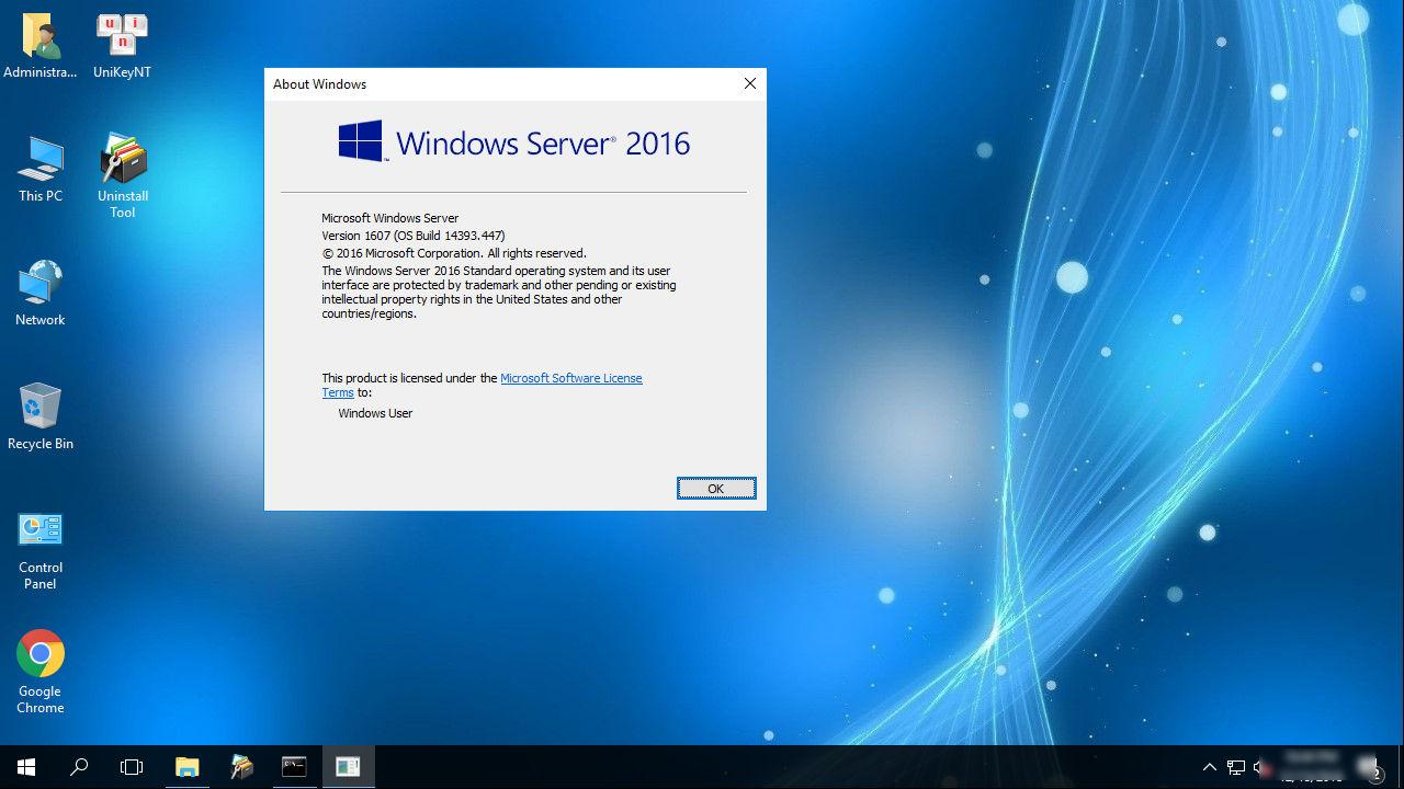 Ghost Windows Server 2016 Standard 64 Bit Full Update mới nhất .