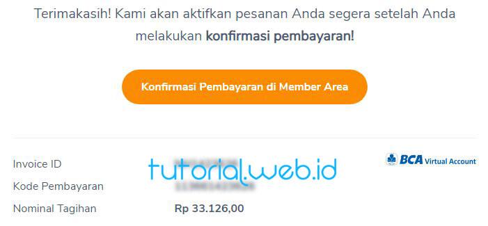 Cara beli domain Niagahoster 6 Konfirmasi Pembayaran