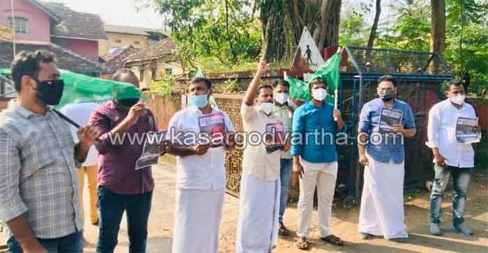 Muslim Youth League marched to the taluk office demanding the resignation of the Chief Minister