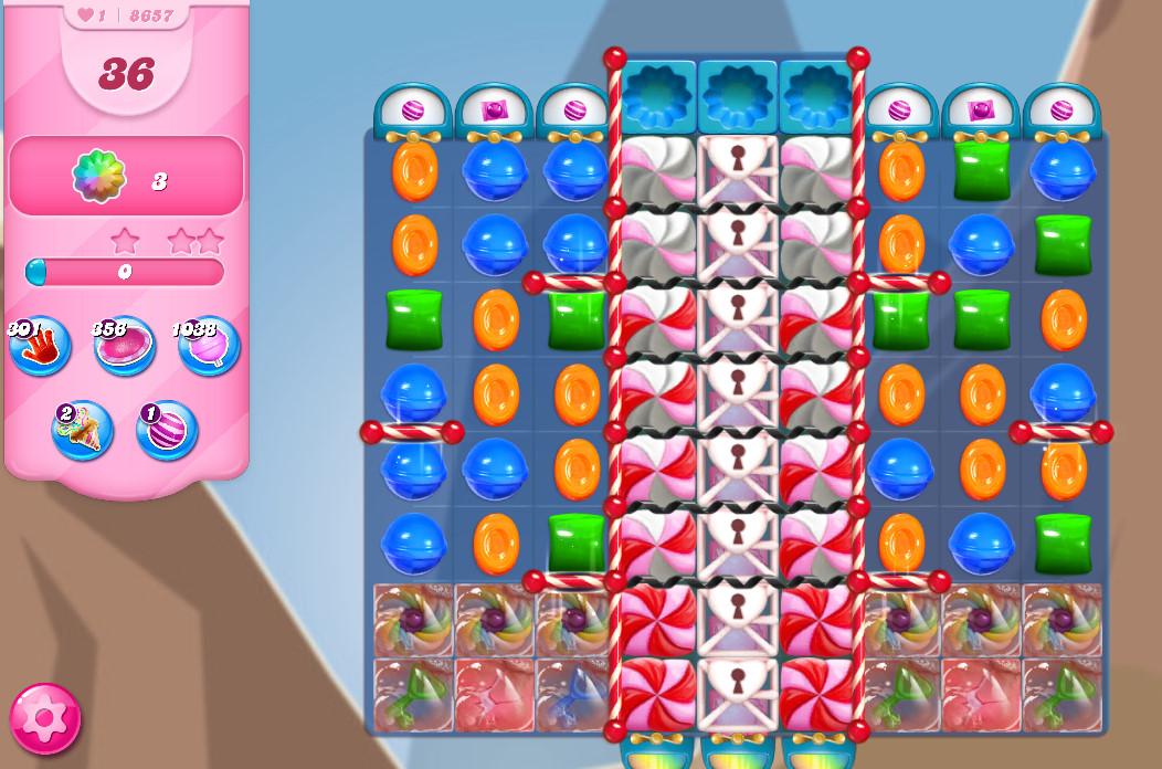 Candy Crush Saga level 8657