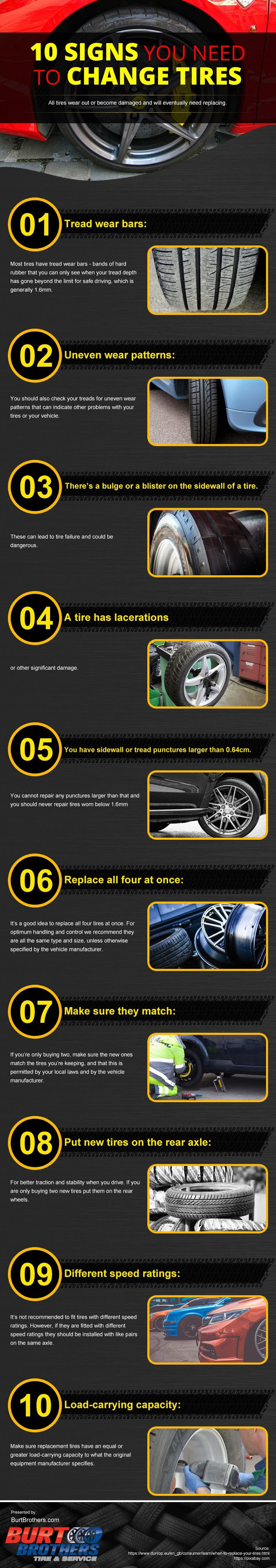 10 Signs You Need to Change Tires #infographic