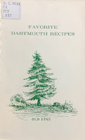 Cover of the Favorite Dartmouth Recipes cookbook