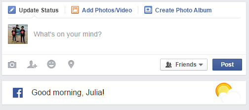 Facebook Say...Good Morning,Julia