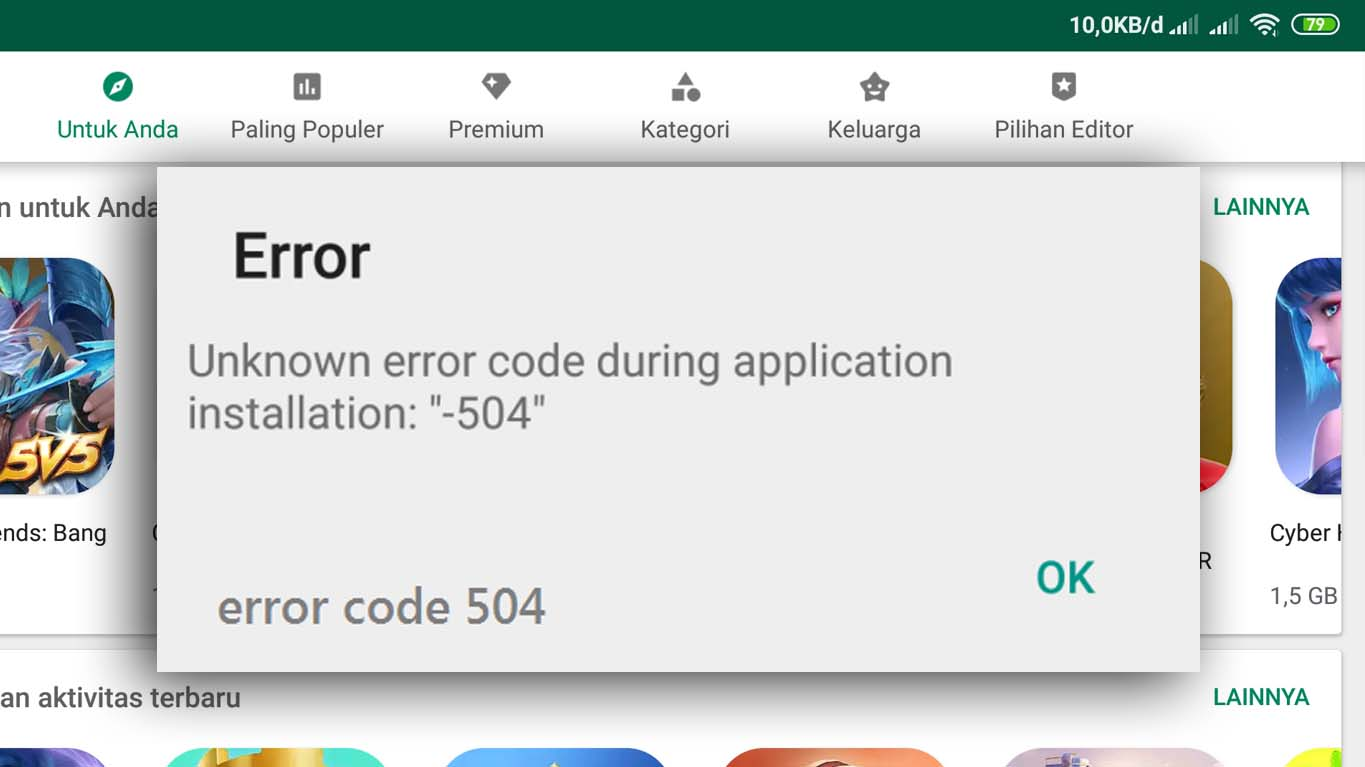 play store error 504 100 solved