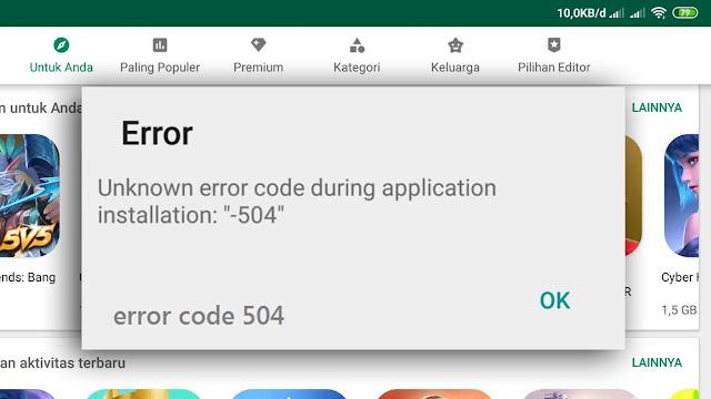 Tidak bisa instal gojek kode 504? Pakai cara ini aja!