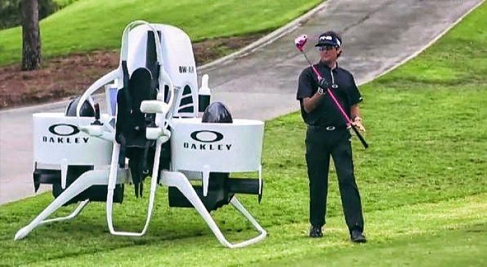 Bubba Watson Flying Golf Car