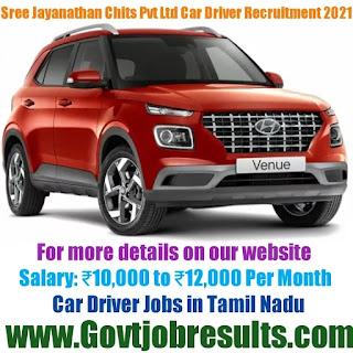 Sree Jayanathan Chits Pvt Ltd Car Driver Recruitment 2021-22