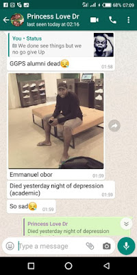 OH NO!!! OAU Student Commits Suicide Due To Academic Challenges