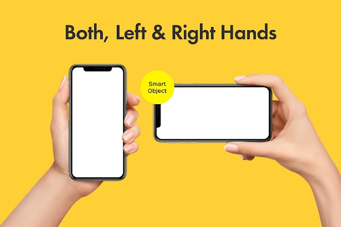 Perfect Mockups Female Hands Holding iPhone X And Google Pixel 3 XL
