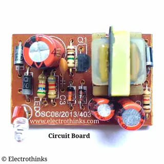 Single Transistor Mobile phone charger Circuit board