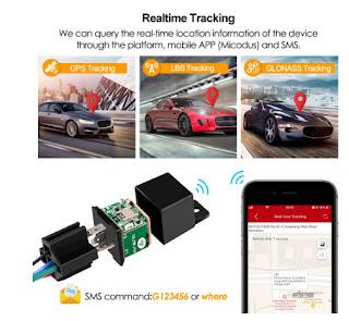 Car GPS Locator 9-90V 80mAh Vibrate Alert Free APP PK CJ720