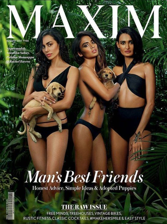 Sonalika, Paloma and Rachel On The Cover Maxim India Magazine August 2017