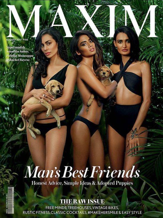 Sonalika, Paloma and Rachel On The Cover Maxim India Magazine August 2017