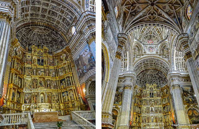 Altar-mor da igreja do Mosteiro de San Jerónimo, em Granada
