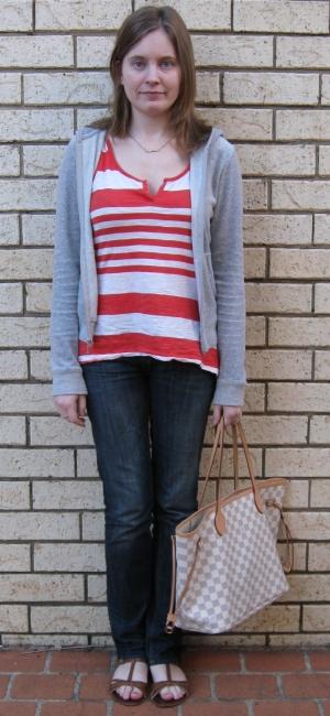 Away From Blue Zip Hoodie Orange Stripe Top Jeans Asos