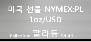 오늘 팔라듐 선물 시세 : 99.95% 팔라듐 (Palladium) 1 온스 (1oz) 달러 시세 실시간 그래프 (1oz/USD 달러, CME NYMEX: PA Palladium Futures)