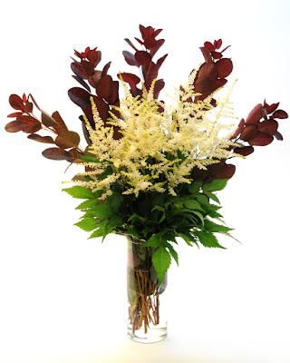 astilbe and cotinus bouquet
