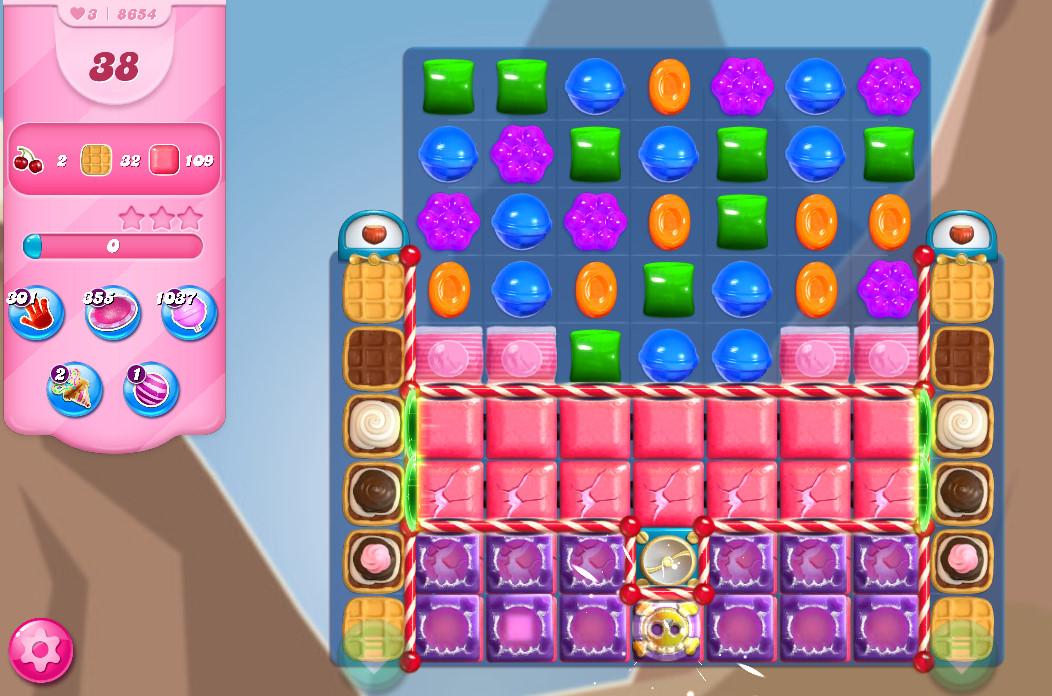 Candy Crush Saga level 8654