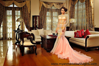 Thet Mon Myint at luxury living room