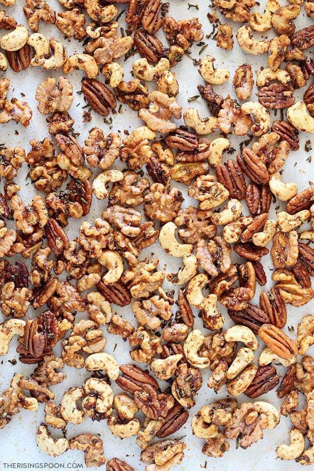 Savory Rosemary Spiced Nuts Recipe (Gluten-Free with Paleo & Vegan Option)
