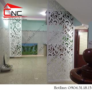 www.123raovat.com: Vách ngăn phòng bếp đẹp khu vực phòng ăn và phòng khách
