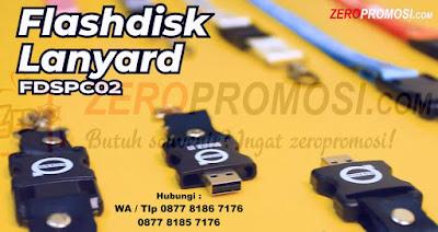 Usb Lanyard, usb Tali FLASHDISK, stopper flashdisk - FDSPC02, Flashdisk Bentuk Kalung, USB Flashdisk model stopper dengan tali