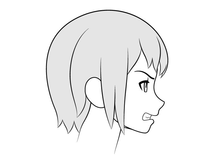 Anime menggiling gigi gambar tampilan samping